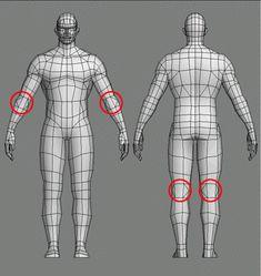캐릭터 관절 처리 모델링 방법. : 네이버 블로그