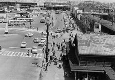 1967年(昭和42年) 4月18日 品川区大井1丁目 駅前ロータリーを見下ろす