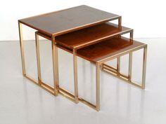 tavolini nesting tables willy rizzo design anni 60 70 modernariato in Arte e antiquariato, Modernariato, Mobili | eBay
