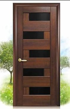 Are you looking for best wooden doors for your home that suits perfectly? Then come and see our new content Wooden Main Door Design Ideas. Modern Wooden Doors, Wooden Main Door Design, Door Gate Design, Door Design Interior, Wood Doors, Flush Door Design, Bedroom Door Design, Entrance Design, Exterior Design