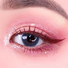 Eye Makeup Designs, Eye Makeup Art, Eyeshadow Makeup, Beauty Makeup, Korean Eye Makeup, Asian Makeup, Ulzzang Makeup Tutorial, Mauve Makeup, Cute Makeup Looks