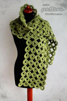Crochet Pattern  Chunky Joy-Joy Scarf Pattern No. 050 por ZoomYummy