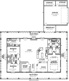 1 Story House Plans with Wrap Around Porch . New 1 Story House Plans with Wrap Around Porch . Country Style House Plans 1640 Square Foot Home 1 Story 3 Barn House Plans, House Plans One Story, New House Plans, Dream House Plans, Story House, Small House Plans, Shop House Plans, Pole Barn Homes Plans, Metal House Plans