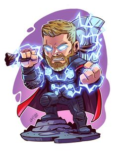 If you want more such pins and more marvel pins visit my board CHIBI Avengers Comics, Avengers Cartoon, Marvel Cartoons, Chibi Marvel, Marvel Art, Marvel Heroes, Thor Marvel, Loki Thor, Chibi Superhero