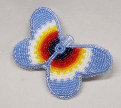 Native American Beaded Butterfly Barrette