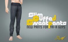 My Sims 3 Blog: Slim Cuffed Sweatpants by Peacemaker ic