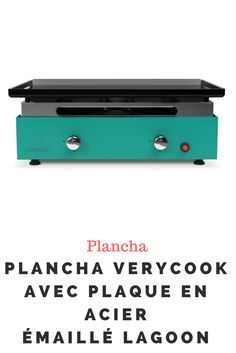 Plancha Verycook avec plaque en acier émaillé lagoon Office Supplies, Plaque, Planks, Steel, Kitchens, Enamels