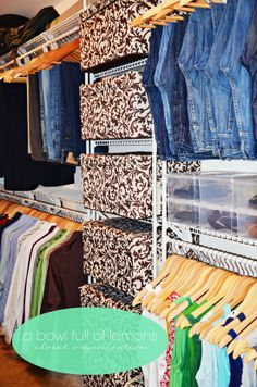DIY: Master Closet Organization...lots & lots of great ideas for organizing.