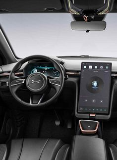 Xiaopeng Auto Electric SUV UI Cluster Full TFT & Big central display