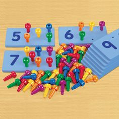 Chunky Peg Number Boards