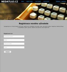Beautiful registration page of my typing tutor http://nedatluj.cz/