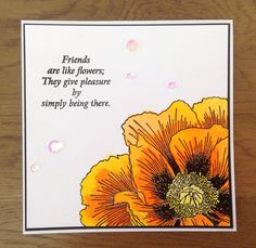 Zoeblingcards: Indigoblu Giant Poppy - try with largest Fifth Avenue flower Poppy Cards, Flower Sketches, Thing 1, Giant Flowers, Making Greeting Cards, Wood Stamp, Friends Are Like, Friendship Cards, Quick Cards