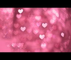 some bokeh hearts