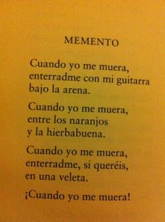 Memento, García Lorca