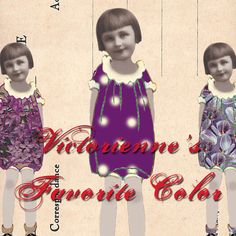 Adorable Paper Dolls - Victorienne's Favorite Color by VelvetRevived on Etsy, $3.50 (As it turns out, Victorienne's favorite color also happens to be mine!)