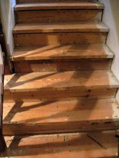 70 Ideas Wooden Stairs Diy Staircase Makeover Removing Carpet For 2019 Refinish Stairs, Redo Stairs, Basement Stairs, Basement Ideas, Stair Redo, Basement Designs, Diy Stair, Basement Decorating, Decorating Ideas