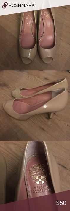 "Vince Camuto nude heels Lightly used Vince camuto 2"" nude heels Vince Camuto Shoes Heels"