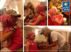 LAS CADERAS TABASCO: Foto: Shakira con una minifan en Barcelona