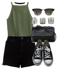 """""""Sin título #12322"""" by vany-alvarado ❤ liked on Polyvore featuring Givenchy, Converse, Ray-Ban and Topshop"""