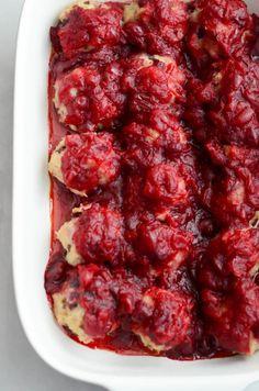 Turkey Cranberry Meatballs with Cranberry, Orange and Maple Glaze http://www.caligirlcooking.com/2016/12/14/turkey-cranberry-meatballs-with-cranberry-orange-and-maple-glaze/
