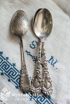 sterling silver spoons | miss mustard seed
