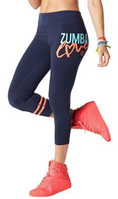 Zumba Love Perfect Crop Leggings [Let's Go Indigo]