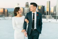 Downtown L.A. Wedding with Rooftop Views