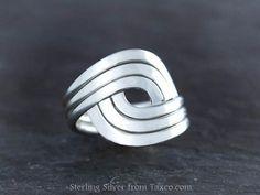 Sterling Silver Spratling Wave Ring