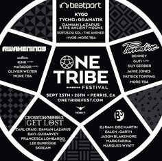 One Tribe Fest 2015 lineup, tickets, dates, times, schedules, maps + more. September 25-26 | Lake Perris State Recreation - Perris, California