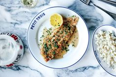 Cooking a whole Dover sole like they do at Petit Trois is no easy task (and can turn into an expensive mistake). We modified their sole meunière recipe using fillets instead; equally delicious—and no tears.