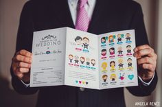 best wedding programs... ever! kat and james written all over it!!