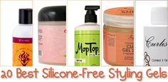 20 Best Silicone-Free Styling Gels For Natural Hair  Read the article here - http://www.blackhairinformation.com/products-2/20-best-silicone-free-styling-gels-natural-hair/