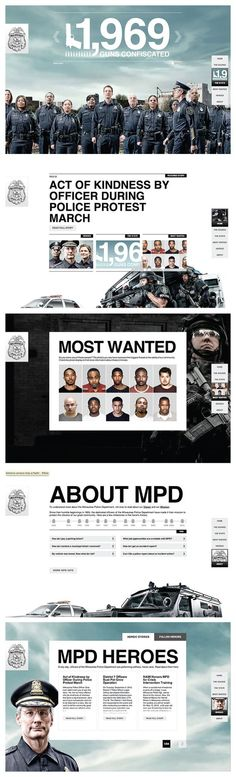Milwaukee Police Department - rebranding | #webdesign #it #web #design #layout #userinterface #website #webdesign <<< repinned by an #advertising #agency from #Hamburg / #Germany - www.BlickeDeeler.de | Follow us on www.facebook.com/...