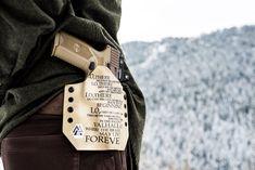 Backcountry exploring with the Viking Prayer holster. Custom Holsters, Hand Cannon, M&p Shield, Navy Veteran, Custom Guns, Gun Holster, Smith Wesson, Kydex, Vikings