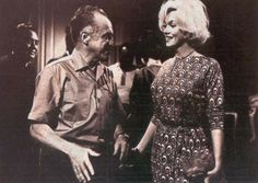 Marilyn with Luis Bunuel on the set of 'El Angel Exterminador' during her visit to Mexico, 1962.