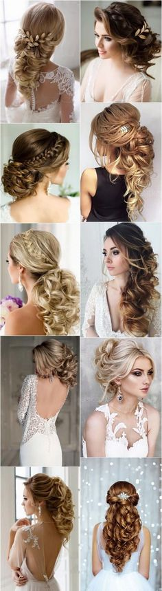 Wedding hairstyles we love...