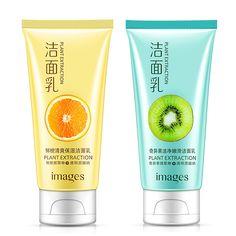 Bright Images Kiwi Fruit Fresh Orange Facial Cleanser Face Wash Deep Clean Nourishing Foam Moisturizing Whitening Anti-spots Marks Face