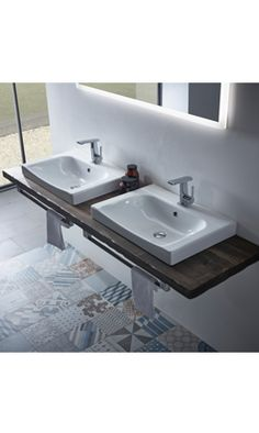 Shop the Roper Rhodes Breathe Countertop or Wall Mounted Basin. Bathroom Radiators, Bathroom Toilets, Bathroom Fixtures, Bathroom Furniture, Bathroom Ideas, Roper Rhodes, Wall Mounted Basins, Basin Design, Downstairs Bathroom