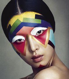 Halloween is right around the corner. sweet makeup!! nezart design