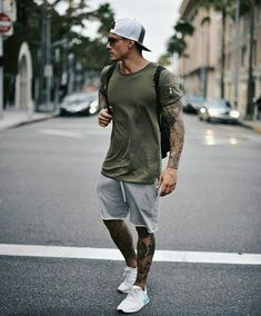 Men's Summer fashion sporty outfit inspiration. - Men's Summer fashion sporty outfit inspiration. Source by jleconteberlin - Summer Outfits Men, Sporty Outfits, Athletic Outfits, Mode Outfits, Summer Men, Men Summer Fashion, Winter Outfits, Summer Ideas, Man Style Summer