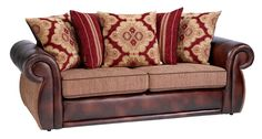 Leather sofa with cloth cushions - Bing images