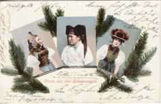 GERMANY Gruss aus dem SCHWARZWALD / Costumes 1900 postcard