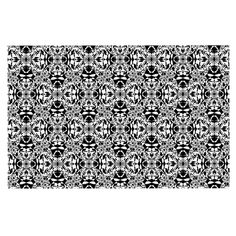KESS InHouse Mydeas 'Diamond Illusion Damask Black and White' Pattern Dog Place Mat, 13' x 18' ** See this awesome image  : Dog food container