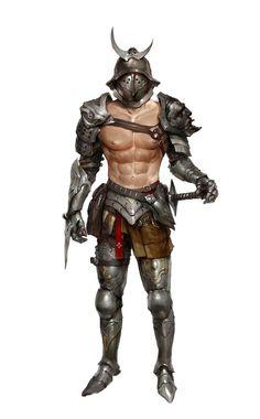 Human Male Gladiator Fighter - Pathfinder PFRPG DND D&D d20 fantasy