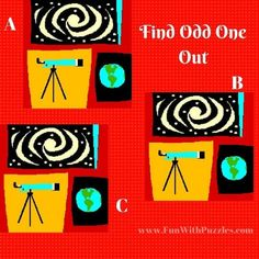 Odd One Out Picture Puzzle Astronomy