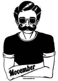 Movember, illustration de Anne HB, © www. Movember, Reproduction, Illustration, Images, Darth Vader, Skull, Fictional Characters, Dibujo, Illustrations