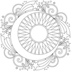 space mandala coloring pages | Coloring Pages For Kids