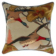 Buy Mulberry Home Flying Ducks Cushion Online at johnlewis.com