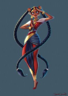 Indian Sailor Moon for the Sailor Moon-themed Character Design Challenge! by Ilenia Gennari