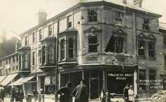 London Road South. Result of bombing 1915.